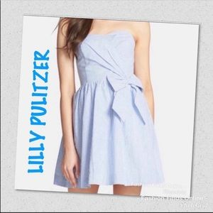 Lilly Pulitzer strapless fit & flare dress